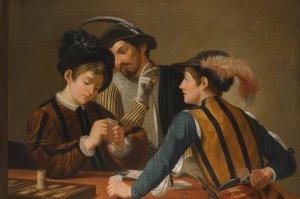 Partida de Cartas, de Caravaggio.